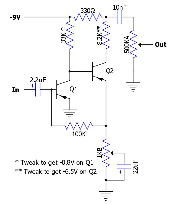 the fuzz pedal circuit