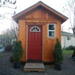 8x12 Tall Gable Shed with a Pre-hung door