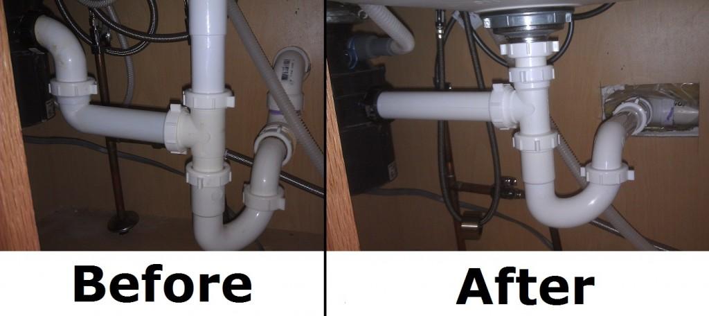 Replumbing An Improper Trap Home Improvement Stack