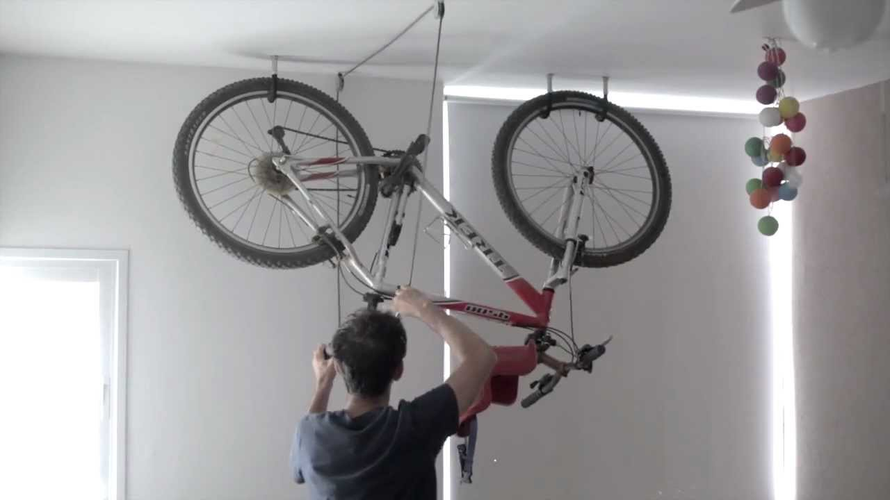 Bike Rack For The Garage Bike Rack One Minute Garage Storage Diy Diy Fyi
