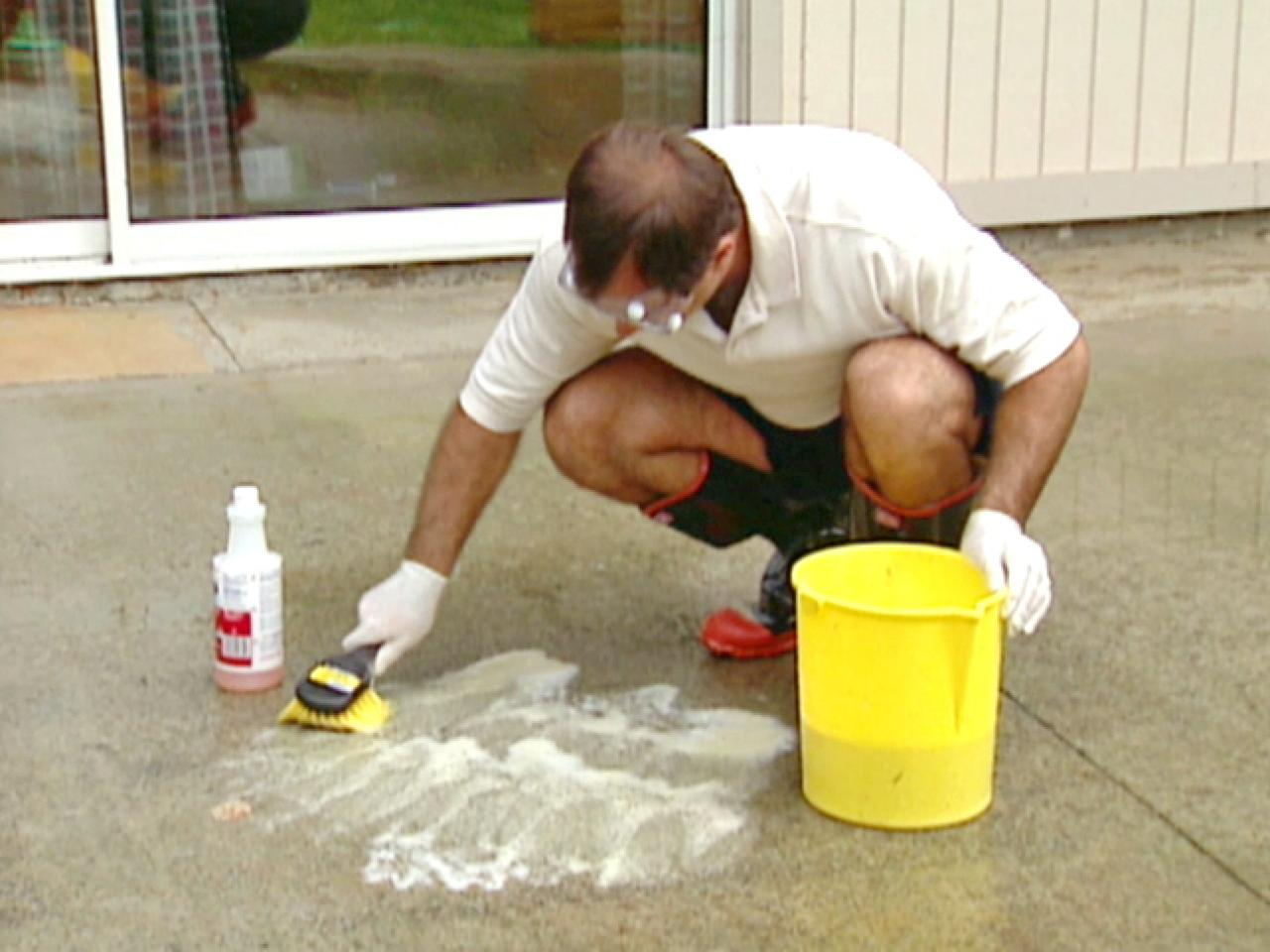 Diy Deck Cleaner How To Stain Concrete How Tos Diy