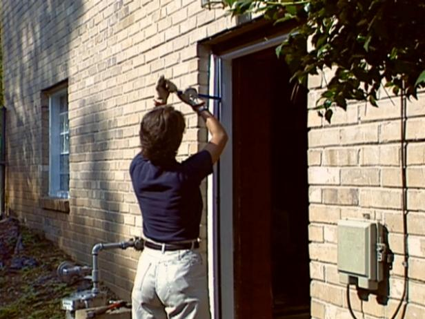 How To Install A Pre Hung Exterior Door How Tos Diy - How To Install A Front Door