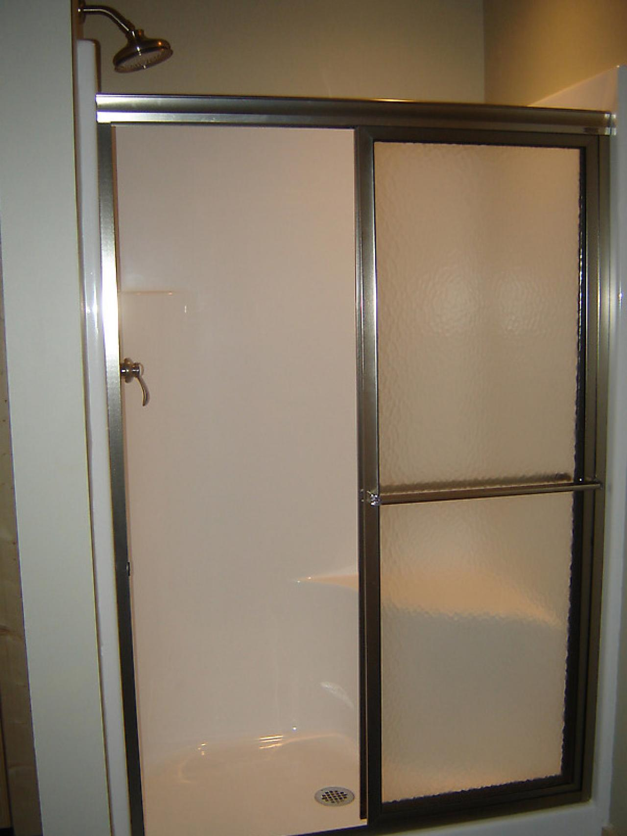 Replace Doors How To Install A Shower Door On A Prefab Shower How Tos Diy