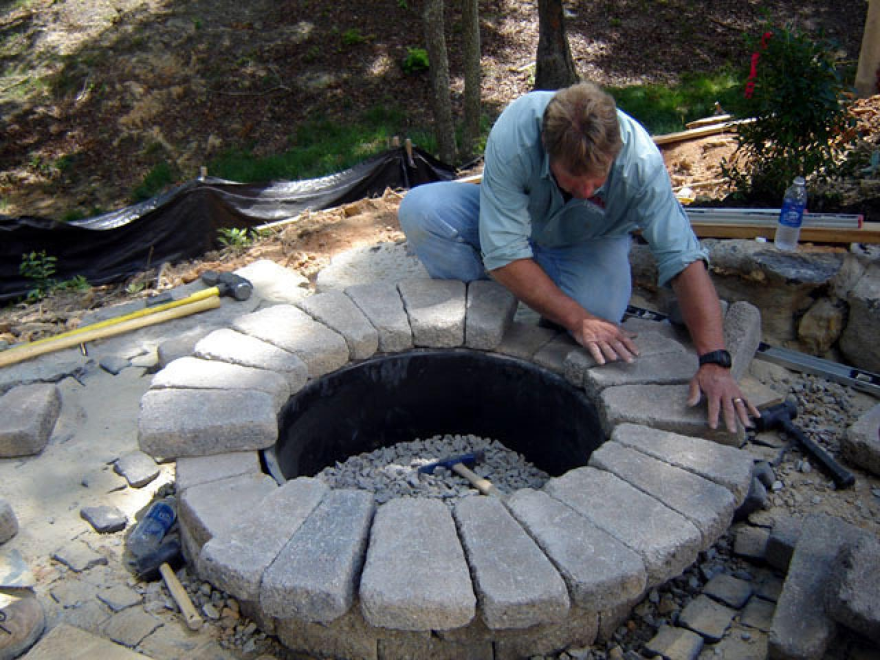 Fire Stones For Fireplace How To Build A Round Stone Fire Pit How Tos Diy