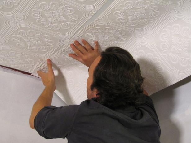 Installing Ceiling Tile In This Home Improvement Project