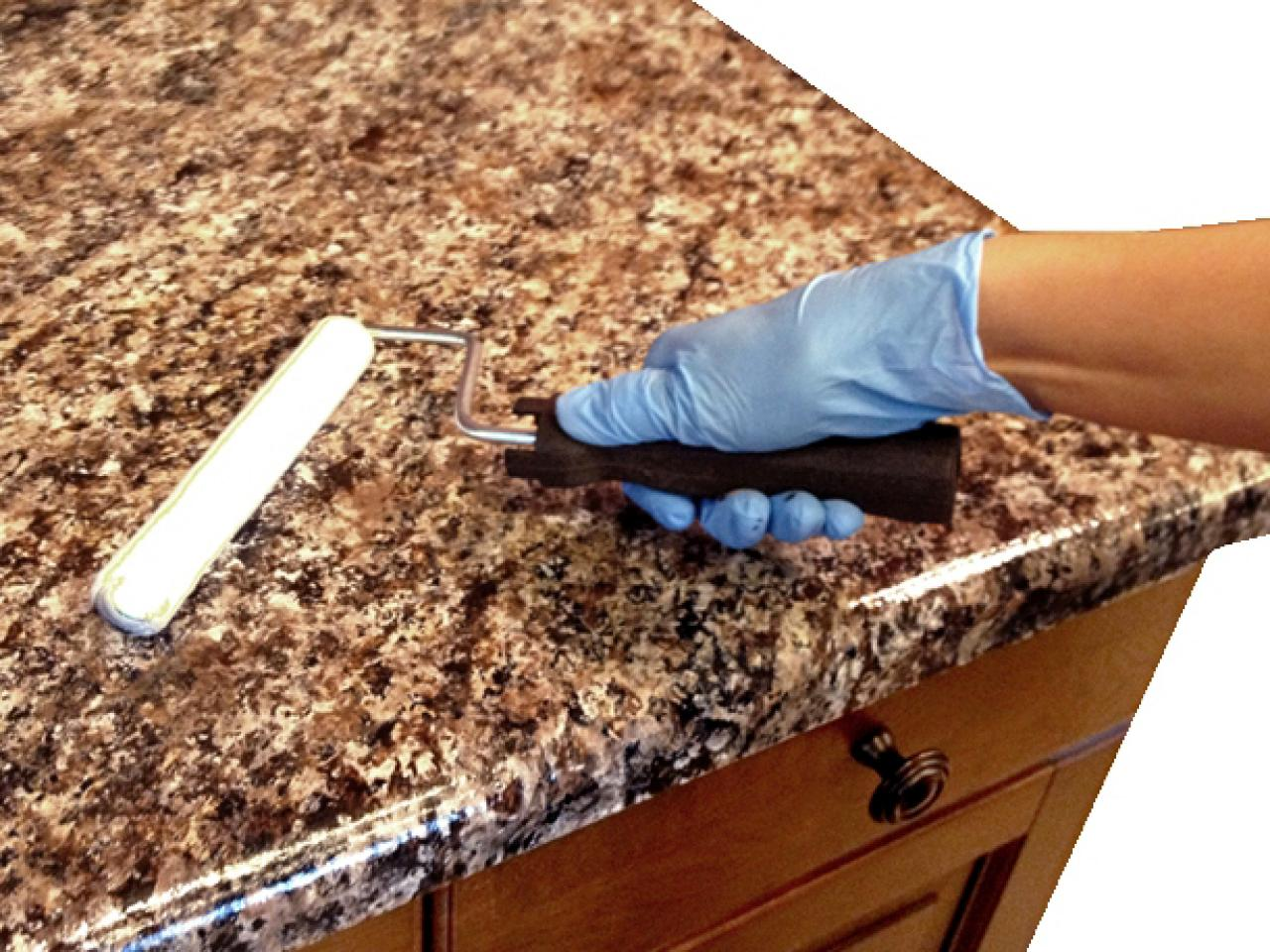 Paint For Countertops That Looks Like Granite How To Paint Laminate Kitchen Countertops Diy