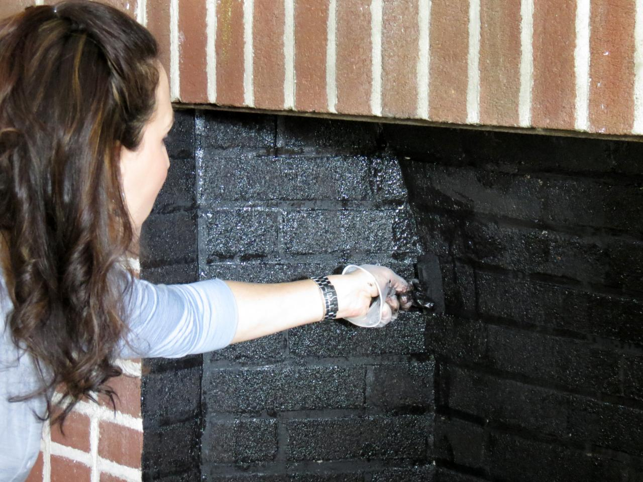 Cleaning A Fireplace Painted Brick Fireplace Makeover How Tos Diy