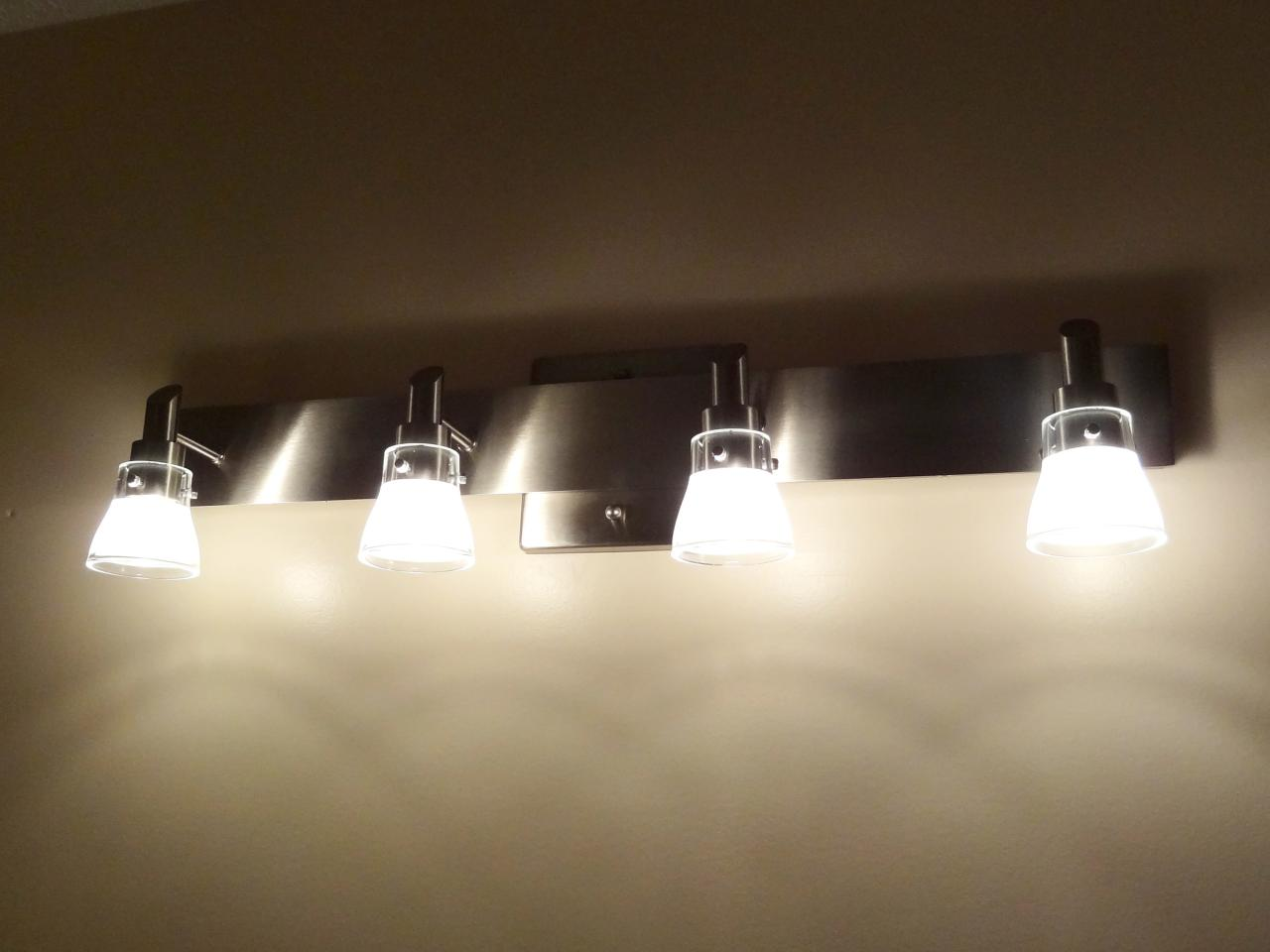 Bathroom Single Light Fixtures How To Replace A Bathroom Light Fixture How Tos Diy