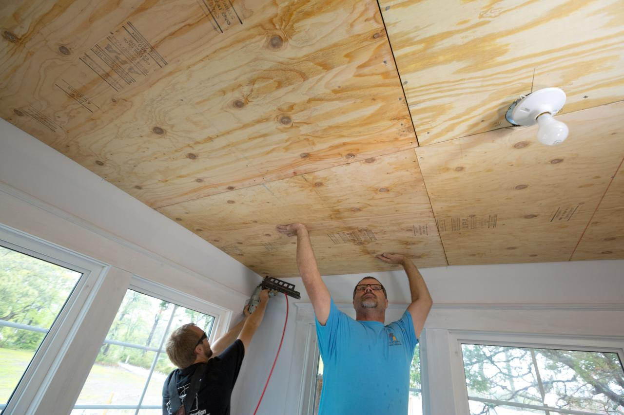 Wood Ceiling Treatments How To Install A Reclaimed Wood Ceiling Treatment How