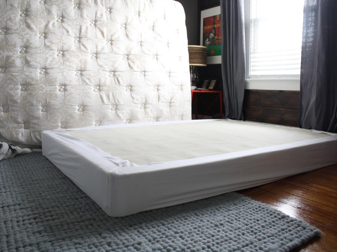 Box Spring Cover Your Boxspring With An Easy Fabric Wrap How Tos Diy