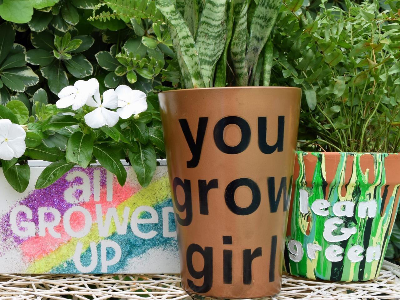 Unique Outdoor Flower Pots 3 Ways To Make Flower Pots With Words How Tos Diy