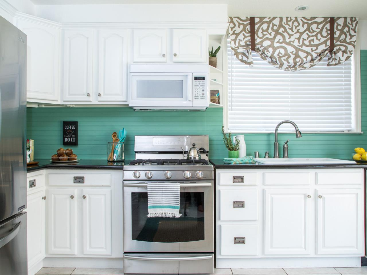 Kitchen Tile Pictures How To Cover An Old Tile Backsplash With Beadboard How Tos Diy
