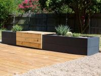Make a Modern Planter and Bench Combo | HGTV