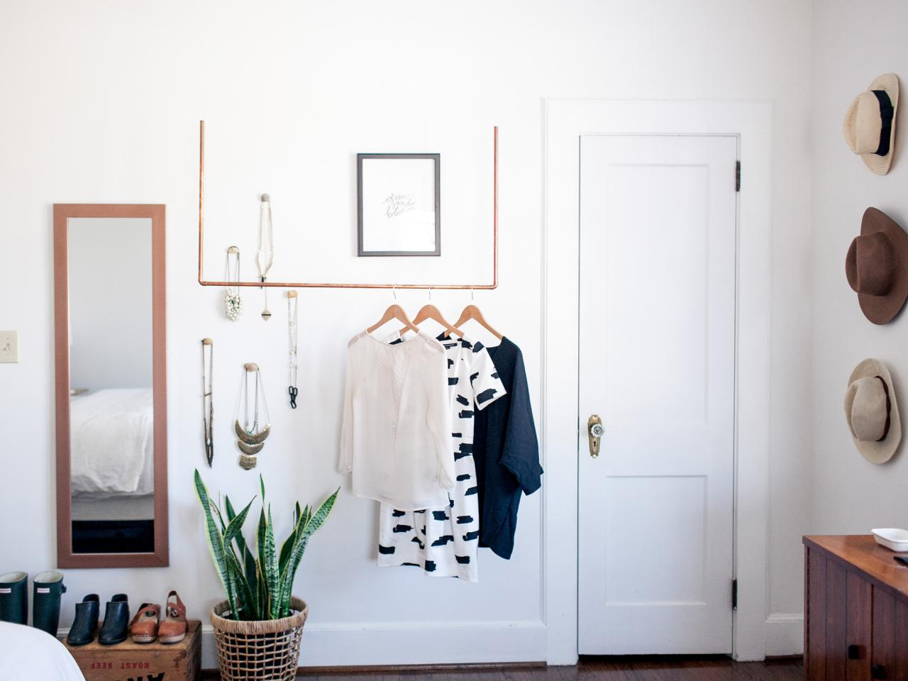 Designing A Closet Diy How To Create A Minimalist Closet Display For A Capsule