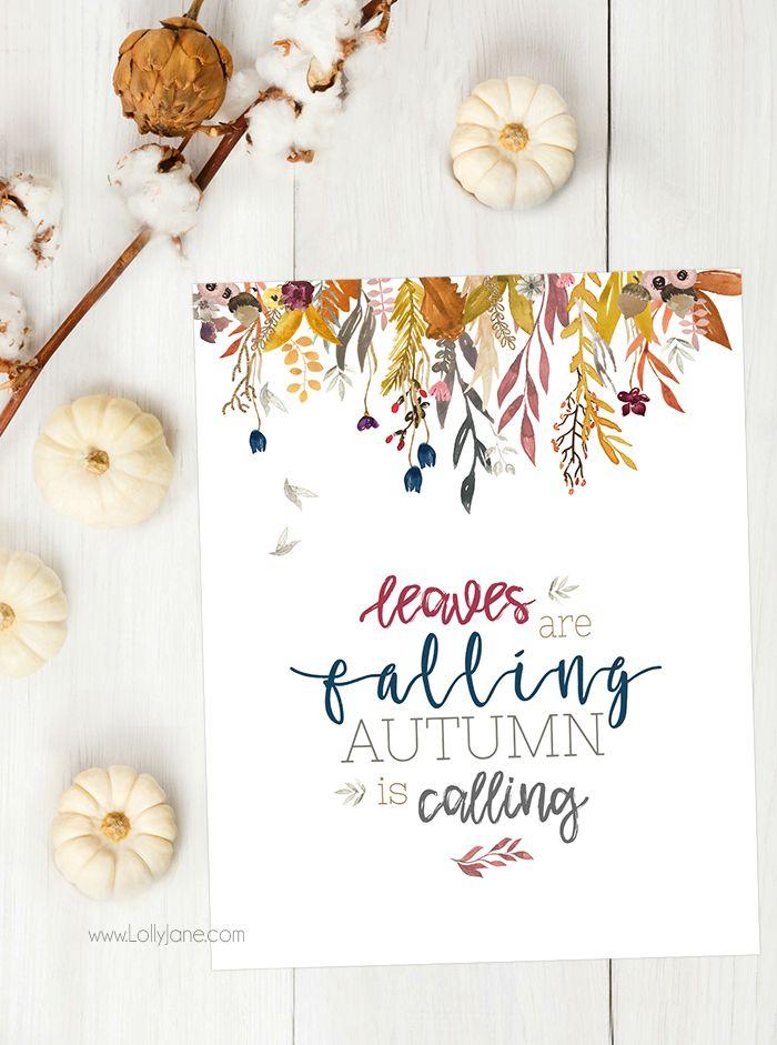 DIY Crafts  free autumn fall printable #fall #fallprintable