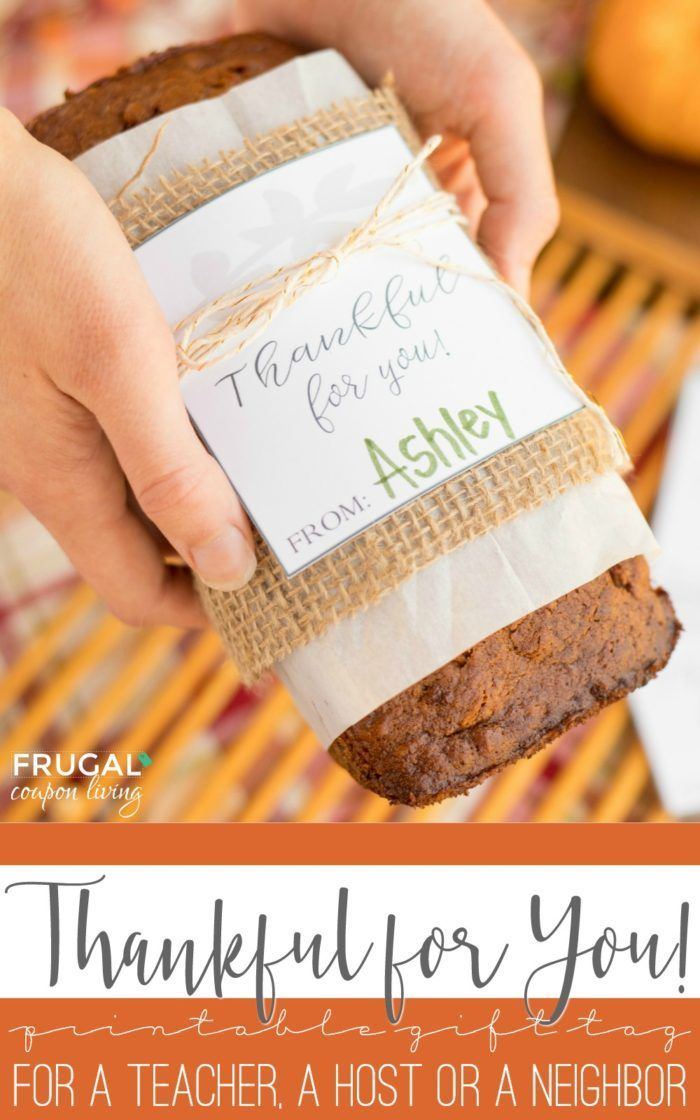 DIY Crafts  Download your free printable thankful for you gift tag