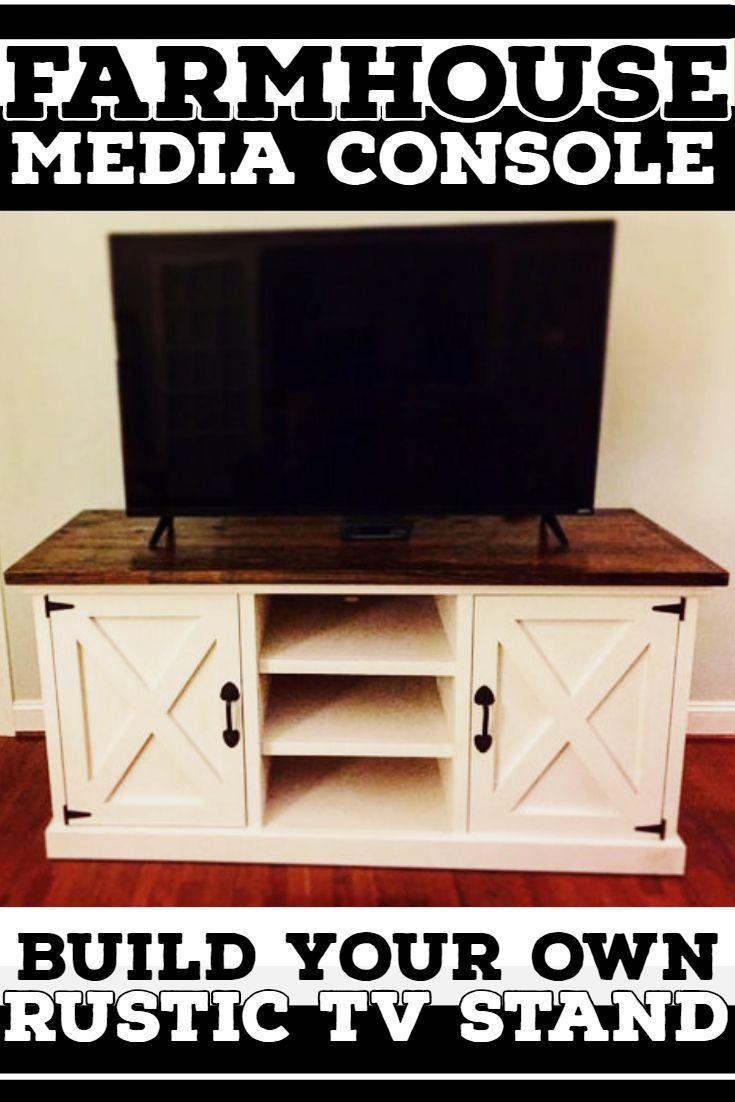 Diy Farmhouse Style Desk Diy Furniture Looking For A Farmhouse Style Rustic Media Console