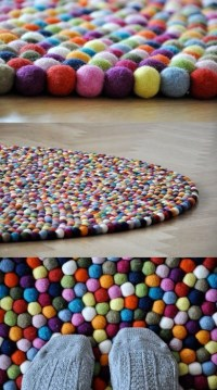 Fuzzy Ball Rug | Pom-pom ideas