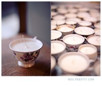 Making candles out of teacups to brighten your holiday home! From Bay Area Wedding and Portrait Photographer — Meg Perotti Photography Blog