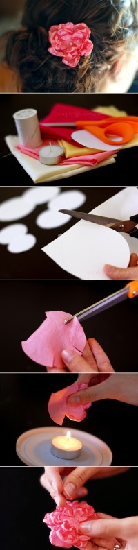 DIY | How to make lovely fabric flowers | From simplyvintagegirl