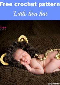 Lion crochet hat free pattern