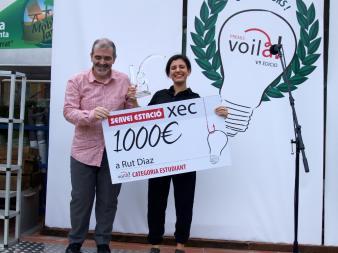 Un vincitrice della scorsa edizione del Premis Voilà