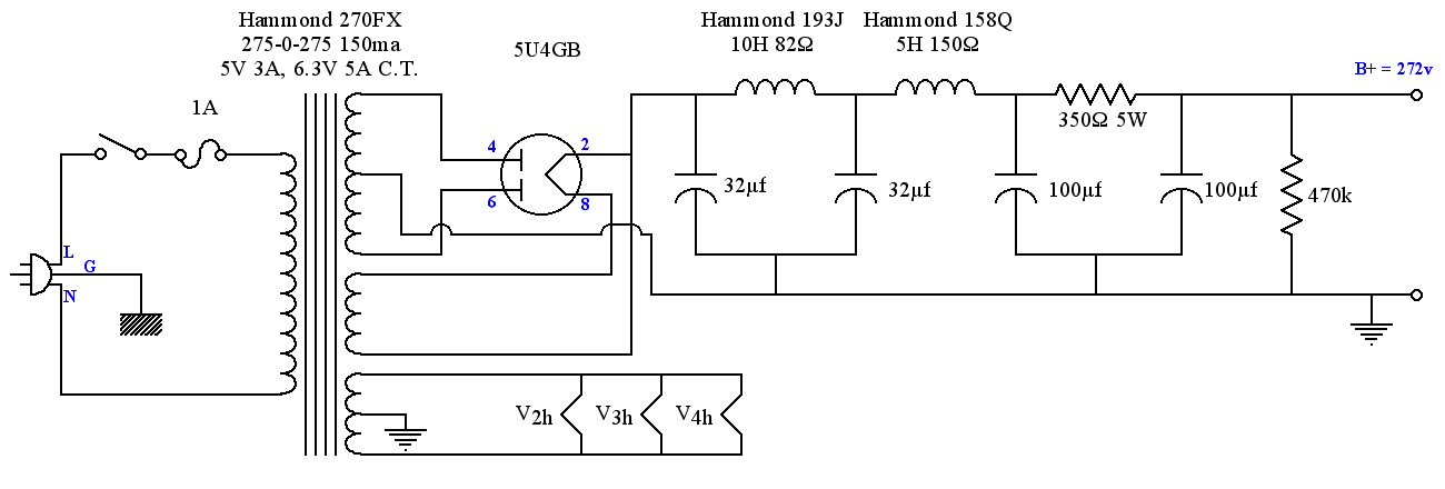 schematic amp tube