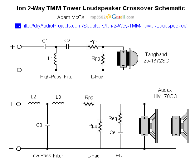 tower speaker wiring diagram