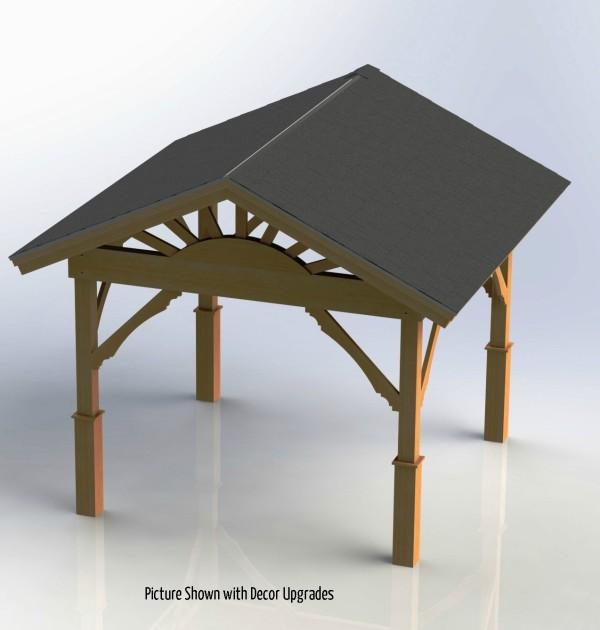 Roof Gable Design Gazebo with Gable Roof Building Plans - DIY Backyard