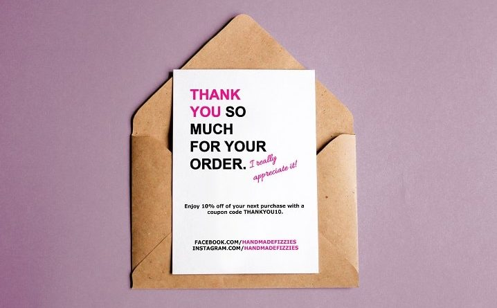 thank you card template word - DIY Beauty Base