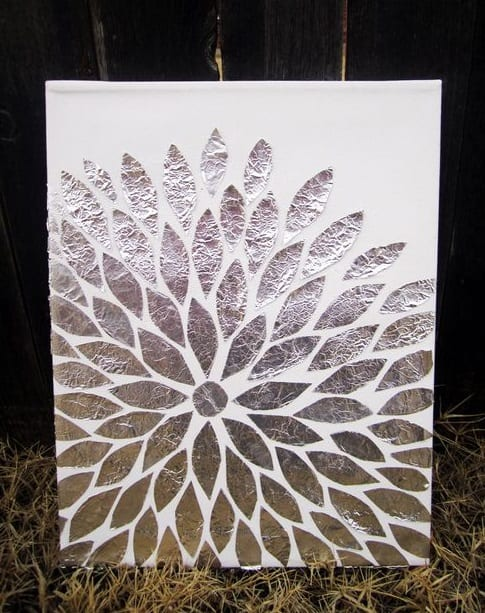 DIY Foil Wall Art Tutorial
