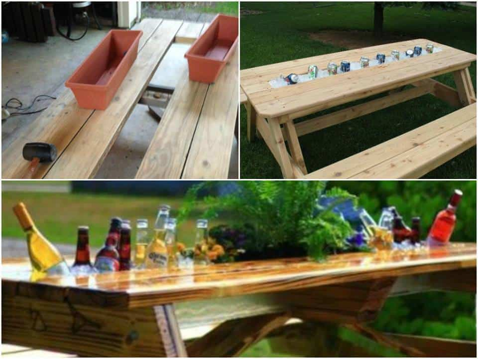 Cendrier Exterieur Diy Build A Patio Table With A Built-in Drink Cooler | Diy