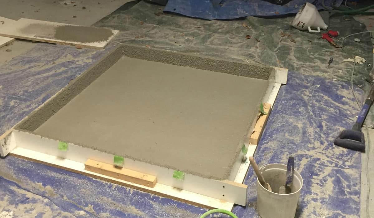 Shabby Look How To Make A Concrete Slab Coffee Table