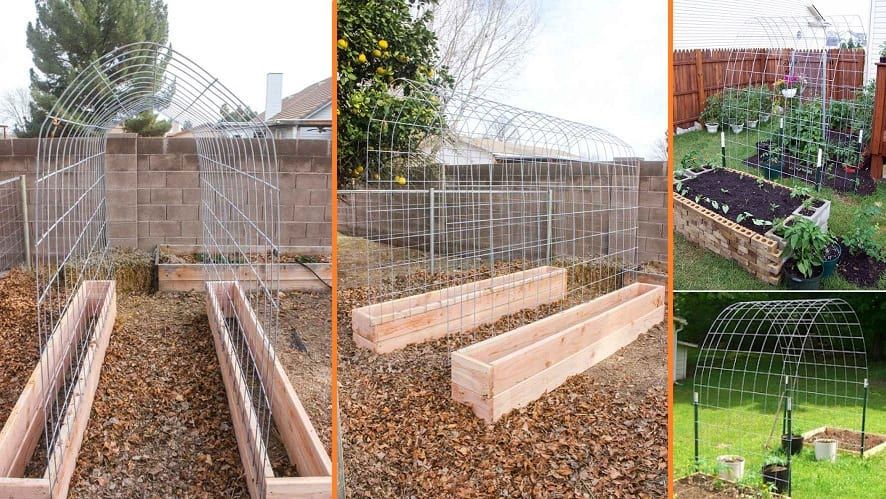 Building A Trellis Tunnel And Raised Garden Bed Combination