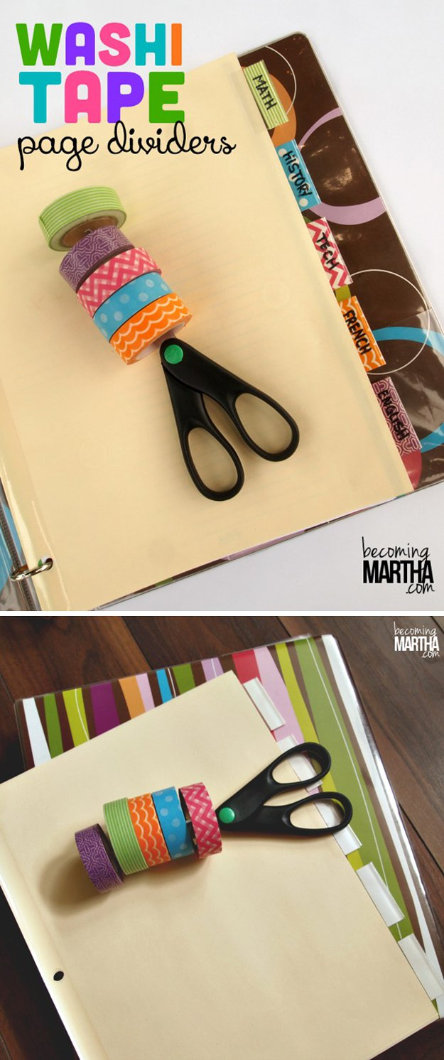 Washi Tape Diy Diy Washi Tape Craft Ideas: #37 Washi Tape Organizer And Arts