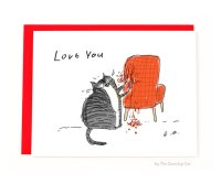 Funny Valentines Card  Chair Rip  Love You  Funny Cat ...