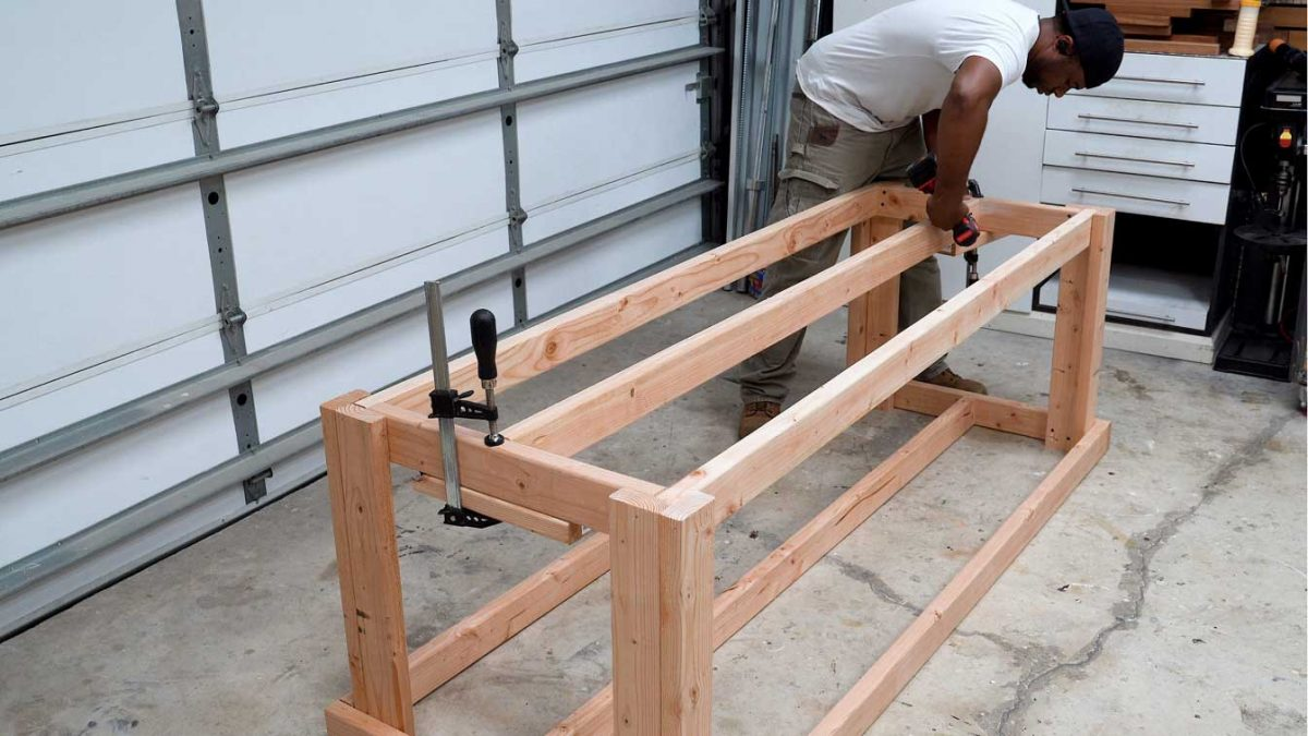 Diy Workbench With Quick Storage And Tool Holder Diy Creators