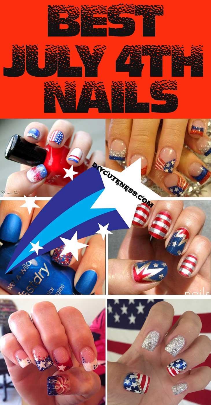 Easy Diy 4th Of July Nails For Kids Diy Cuteness