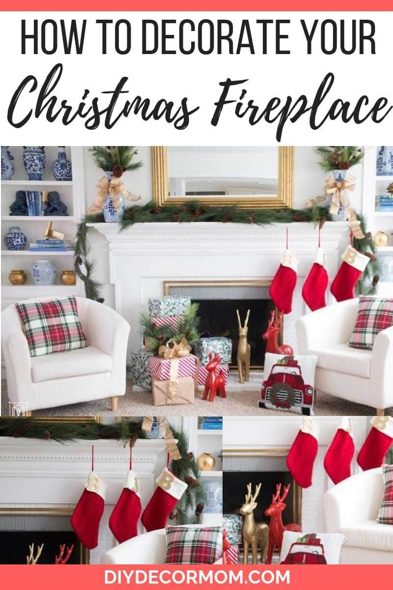 How To Decorate Fireplace How To Decorate Your Fireplace For Christmas Easy Decor Ideas