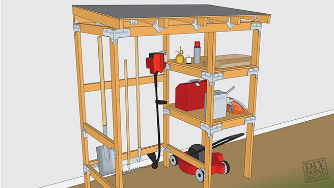 Custom Simple Outdoor Kitchen Outdoor Storage Center - DIY Done Right