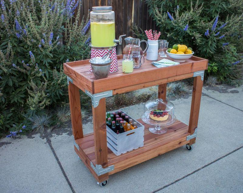 Large Of Outdoor Bar Cart