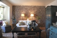 DIY Super Easy Faux Brick Wall - Do-It-Yourself Fun Ideas
