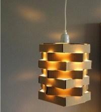 DIY Cool Cardboard Lamp - Do-It-Yourself Fun Ideas