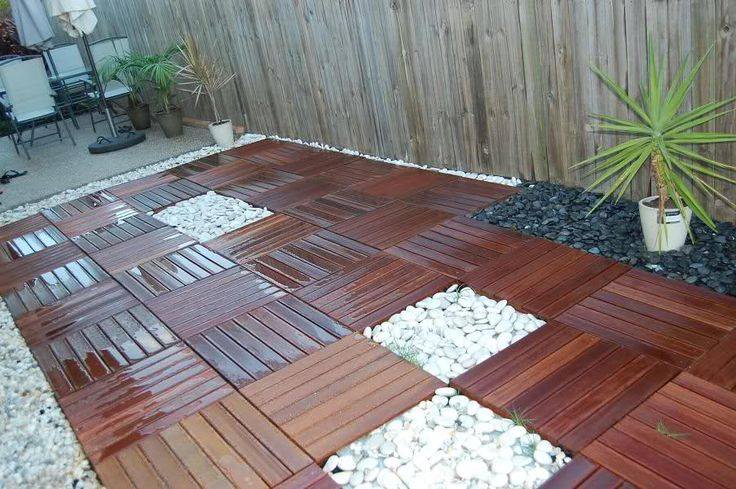 How To Create A Beautiful Wood Tile Patio Deck On A Budget Do It Yourself Fun Ideas