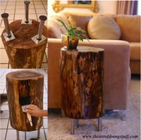 How To Make A Tree Stump Side Table - Do-It-Yourself Fun Ideas