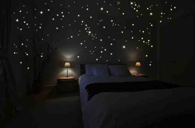 Dream About Wallpaper Falling Off Diy Star Scape For The Kids Room Do It Yourself Fun Ideas