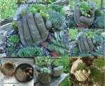 Pinterest Cement Hand Planters