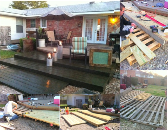 Patio Pavers By The Pallet Incredible DIY Pallet Deck For Under $300 - Do-It-Yourself Fun Ideas