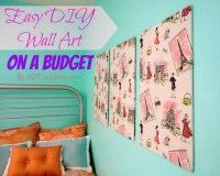 SUPER EASY FABRIC PANEL DIY WALL ART ON A BUDGET - Do-It ...