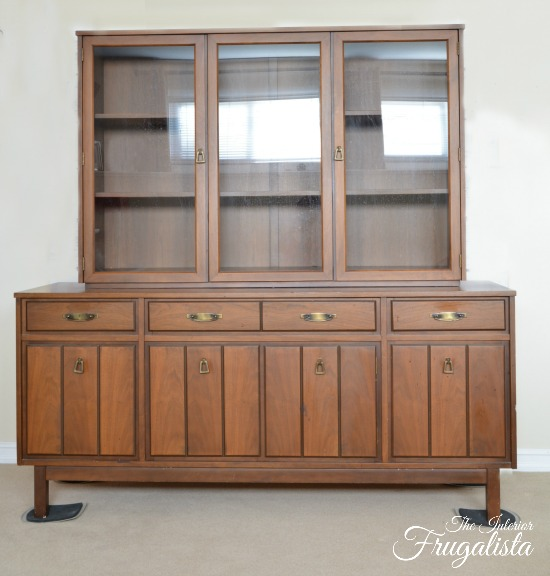 (Before) Mint Hutch Makeover - by The Interior Frugalista
